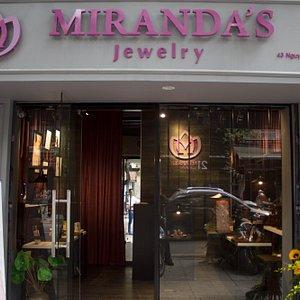 Miranda's Jewelry showroom