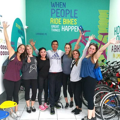 When people ride bikes GREAT things happen! Lima Bike Tours