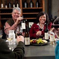 Tasting wines with Winemaker Brad Warner and Vintner Lisa Warner