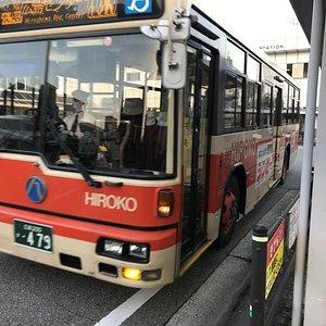 大町駅にて