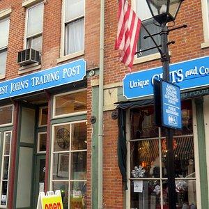 front of Honest John's Trading Post