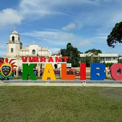 Vibrant Kalibo Landmark with the iconic St. John the Baptist Cathedral on the backdrop