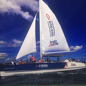 Scuba Caribe has the best and newest Catamaran on the Island