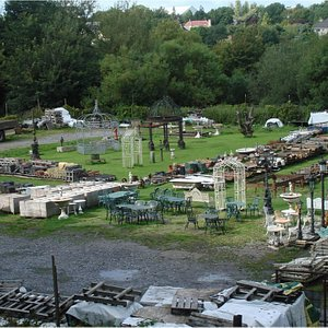 A view of the Kilkenny Architectural Salvage yard