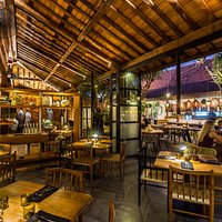 Indoor under the 150 y old wooden structure or outdoors under the stars.  The Savage Kitchen Bal