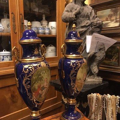 a section inside the antique shop