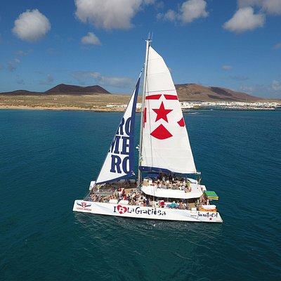 Brand new catamaran to  La Graciosa