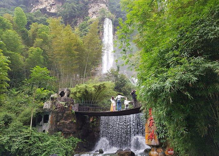Waterfall within Baofeng Lake compound