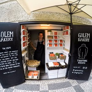 Tha place where you can hear the legend of Prague Golem while tasting our traditional biscuits.