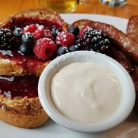 Scrumptious French Toast a la fruit compote & yogurt (one of 3 courses)
