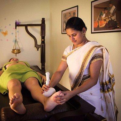 Поди Кижи - массаж мешочками