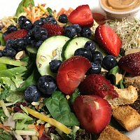 Super food on our Signature Salad at Perry's.