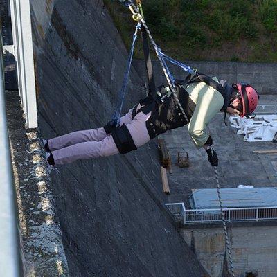 So geht´s runter - 40 Meter!