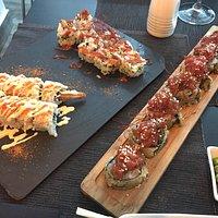 Paella Thai, Maki de atún rojo, Rock and Roll, Cesar Roll y Dragon