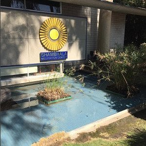 Pond in front of Meditation center