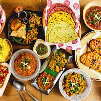 The Indian Streatery- selection of our fresh, authentic dishes!