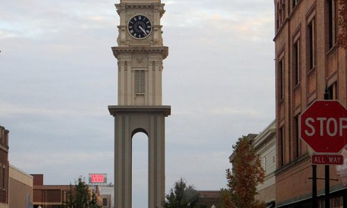 the Town Clock Plaza