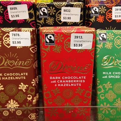 Their wonderful chocolate. There is a story about the grower of the cocoa beans inside the wrapp
