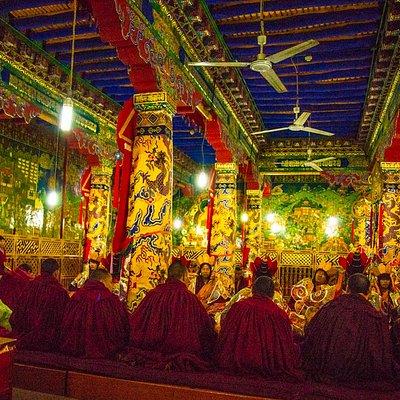 Тантрическсая пуджа в храме