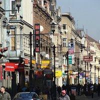 Ulica Dworcowa mit Hotel/Café Bristol