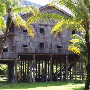 Национальный дом на сваях