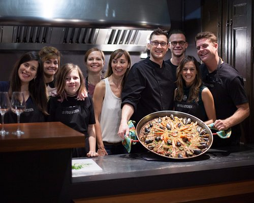 The final result of a Paella cooking class is always Impressive