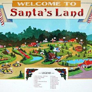Santa's Land Park Map