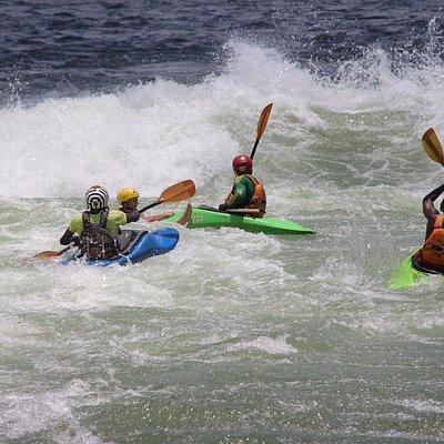 Adventure Tours: kayaking on Itanda falls