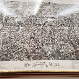 1878 Map of Worcester