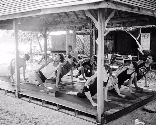 Usually our resident instructors practise Hatha yoga and our classes relaxed.
