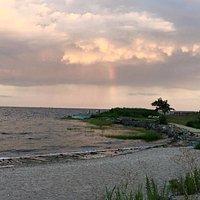 Rainbow over Bradley Point Park