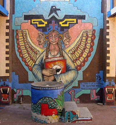 One of the many murals at El Rio Neighborhood Center