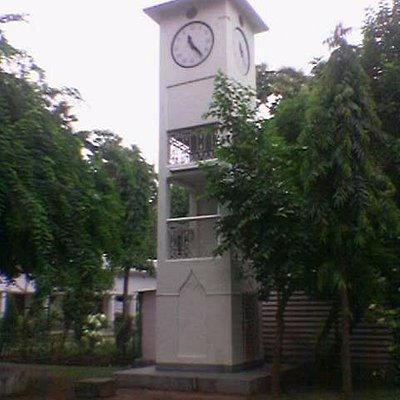 Another view of Clock Tower in the Ashram