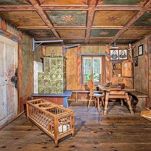 La stua, una delle 42 sale del Museo, nella sezione dedicata ai riti nuziali