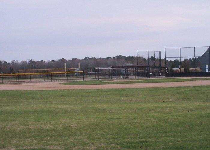 Baseball field near the entrance