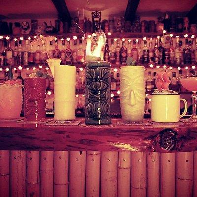 Tiki cocktail selection