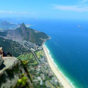 Vista do alto da Pedra da Gávea. Espetacular.