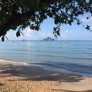 The beautiful beach of Ao Nang, Krabi