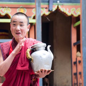 This picture was taken at Jakar Dzong, Bhutan in one of our Bhutan Cultural Tour.