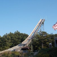 Pine Mountain Ski Jump, Iron Mountain, Michigan. The Ski Jump.