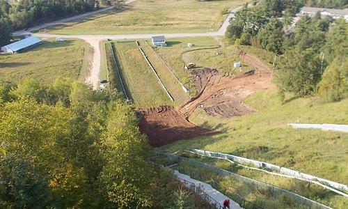 Pine Mountain Ski Jump, Iron Mountain, MI. Landing Area.