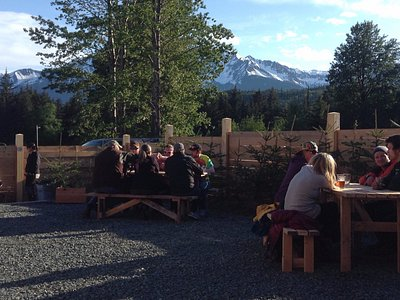 Nothing like gathering with friends in the beer garden on a sunny day...