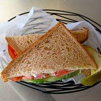 lunch avocado lettuce tomato sandwich