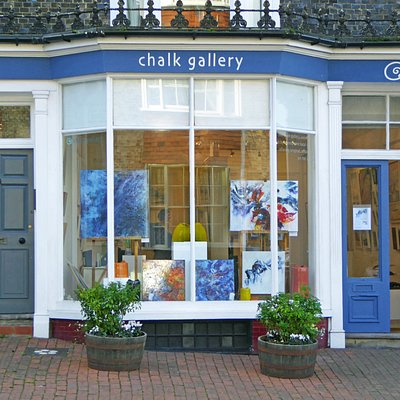 Chalk Gallery exterior view from the roadside.