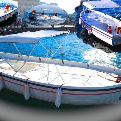 Lancia di 6,50 mt con il 20 hp accensione elettronica, cuscini, tenda, ghiacciaia, scaletta e do