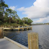 View from boat launch on Rocky Bayou.
