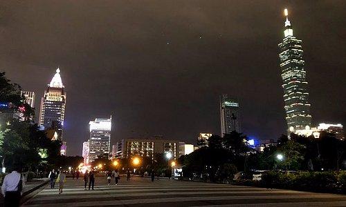 View of Taipei skyline from Zhongshan Park