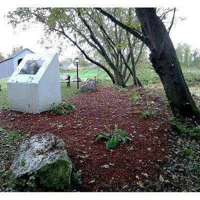 The UFO Monument & State Citation, sit at ground zero