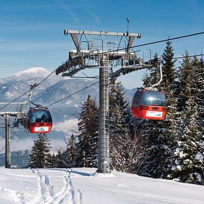 to Malino Brdo by cabin lift