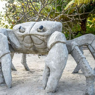 Concrete Land Crab a favorite in the Park.